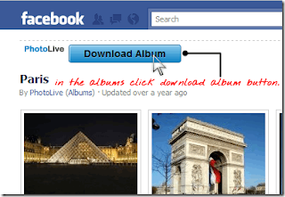 Download Albums from Facebook using PhotoLive Chrome Extension