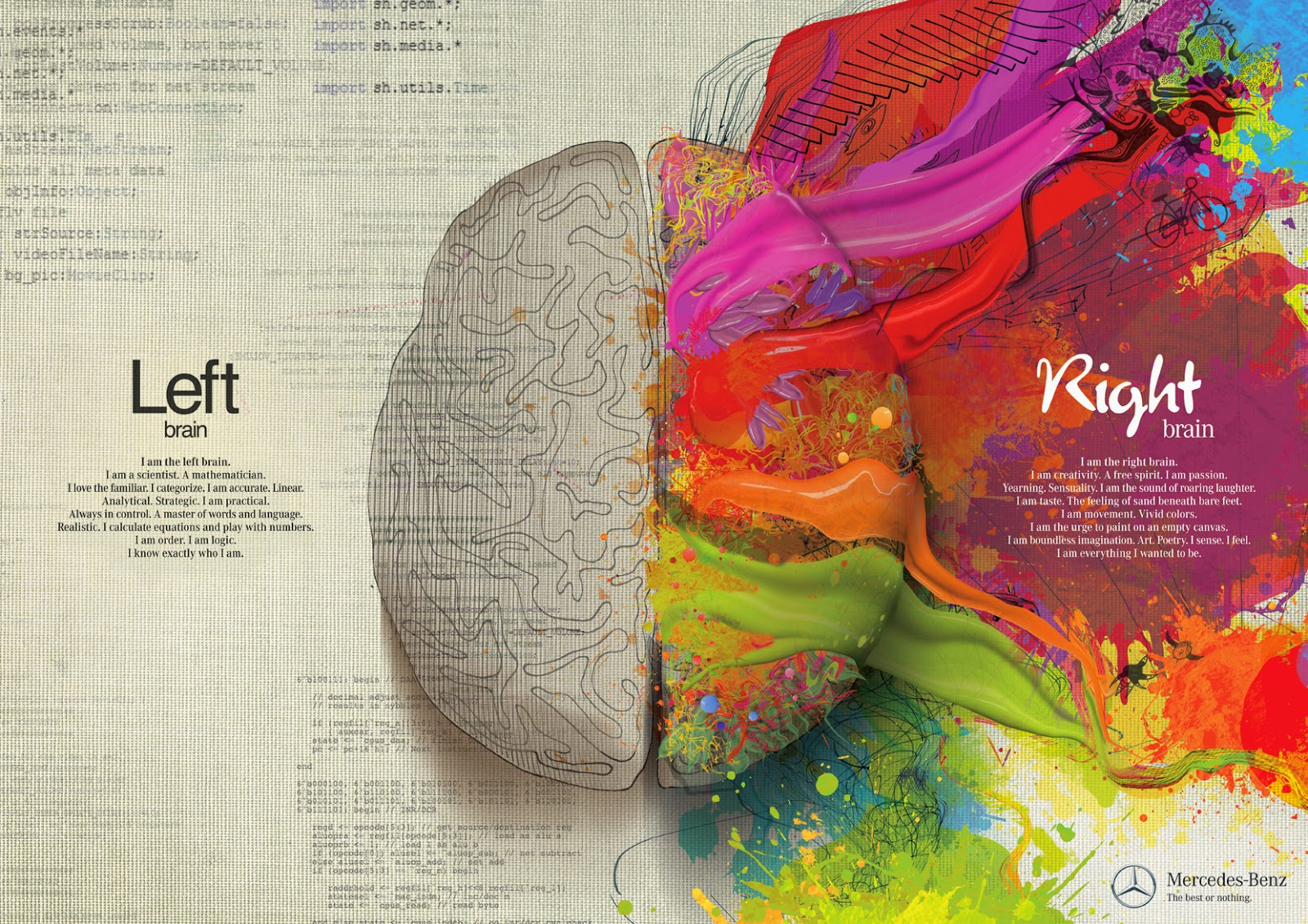 Left Brain Vs. Right Brain, The Eye Opening Insights - Photo Mercedes-Benz
