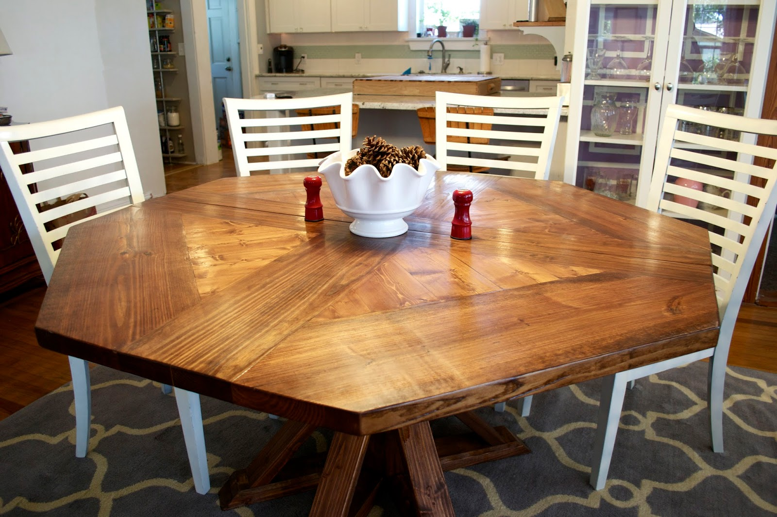 Octagon dining room table