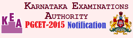 Karnataka KEA-PGECET-2015-Notification