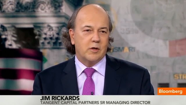 Another dollar hater the balding Jim Rickards