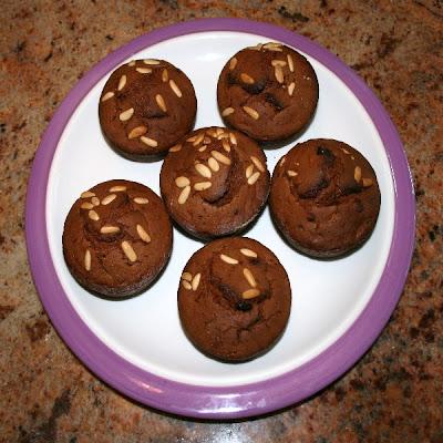 dolci - muffins cioccolatosi con farina di castagne
