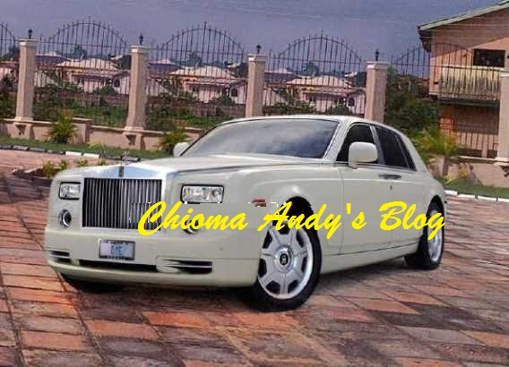 Pictures of Comedian I Go Dye's Customised Rolls Royce Phantom chiomaandy.com
