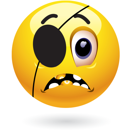 Eyepatch emoticon