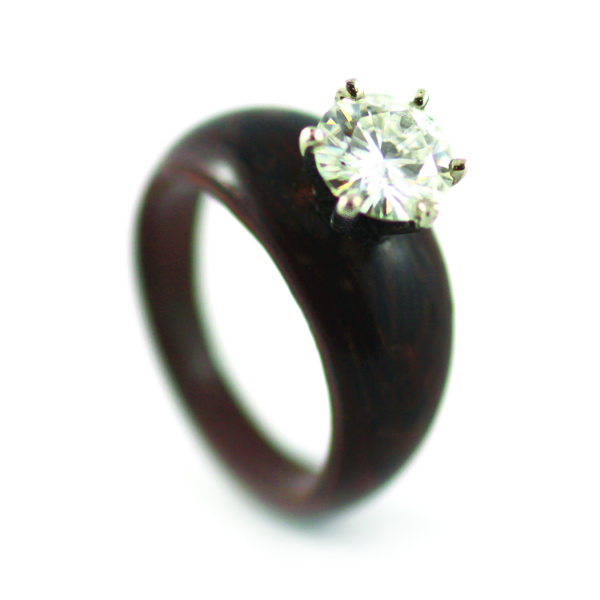 wood rings by simply wood rings the brilliance of moissanite