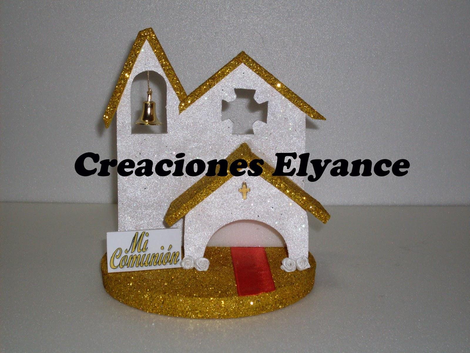 Creaciones Elyance: Adorno de torta para Comunion Capilla