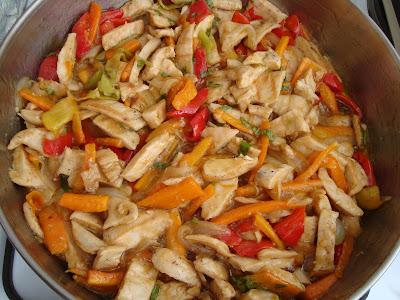 С китайски сос и задушени зеленчуци