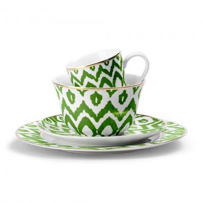 decoración toques en verde