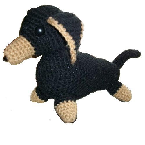 Free Crochet Pattern For Stuffed Animal Net : Dachshund Crochet Stuffed Animal Pattern Crochet Pattern ...