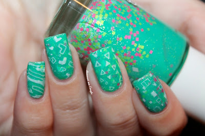 Eighties Geometric Nail Art