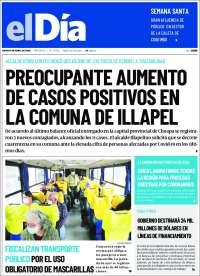 09/04/2020      CHILE  UNA  PRIMERA PÁGINA DE LA PRENSA