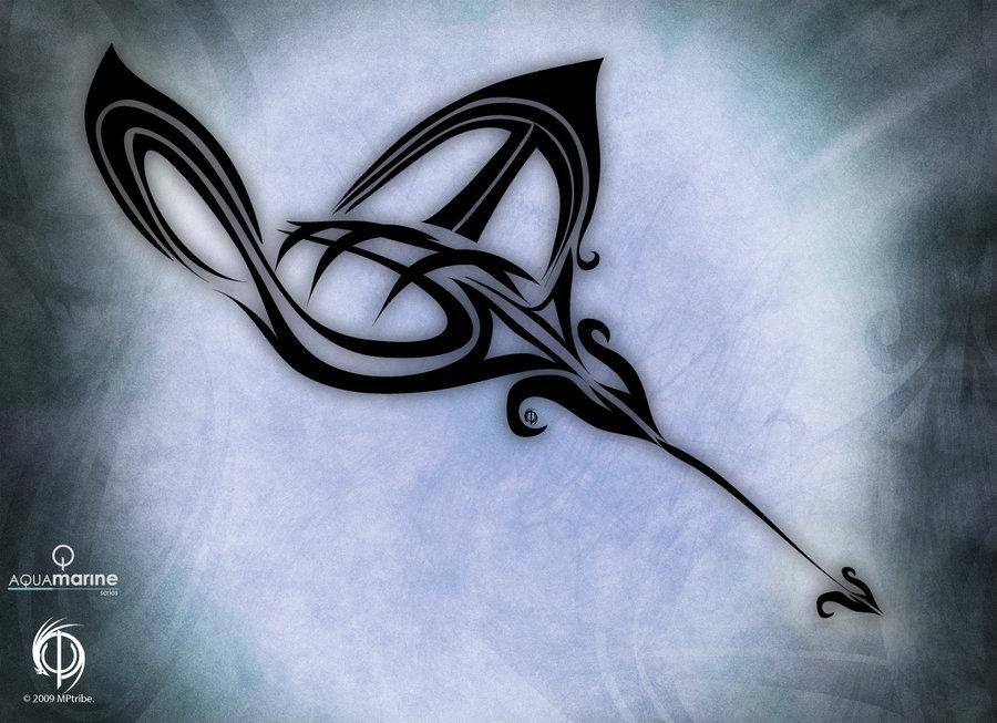 Stingray tribal tattoo designs