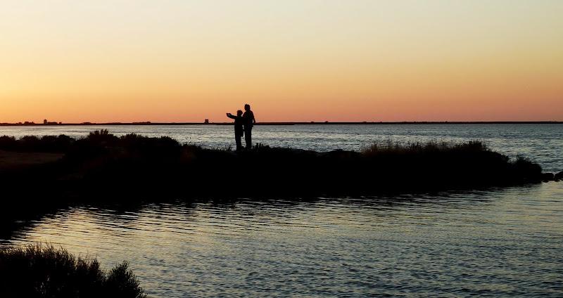 Sonnenuntergang über der Lagune von Lefkada