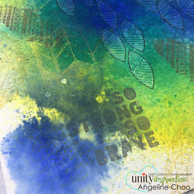 Unity Stamp: DT Thursday with Angeline #unitystampco #scrappyscrappy #smak #artjournal #stamp #dylusions