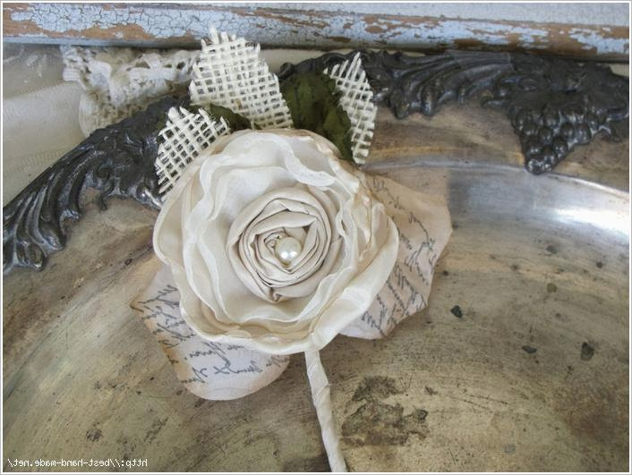 Цветы из ткани.  Fabric flowers