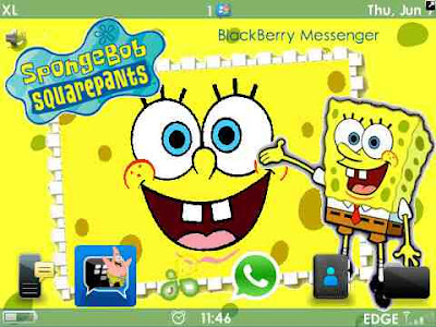 Tema Blackberry Spongebob