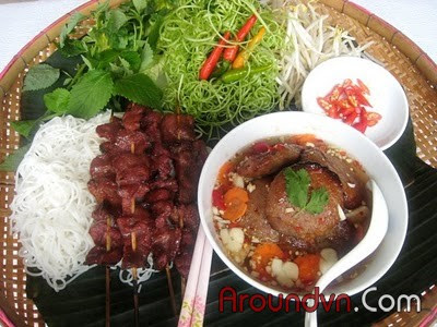 Bun cha - Top 10 the most delicious dishes in Hanoi - Part 1
