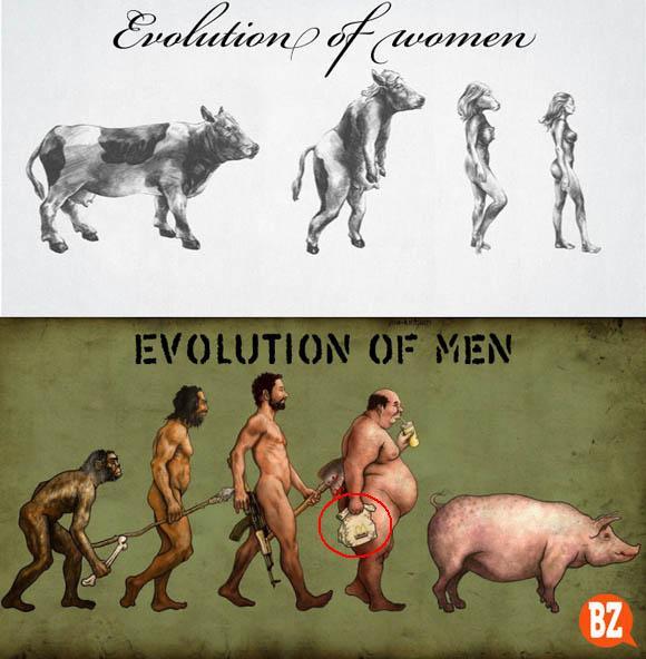 The Evolution of Man vs Woman