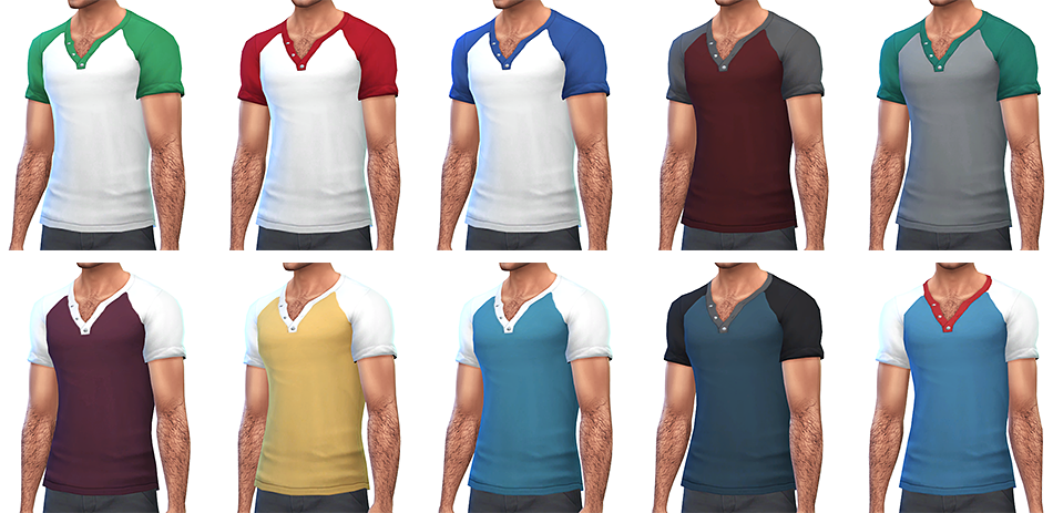 My Sims 4 Blog: More Color Options for Rope's Male Clothing