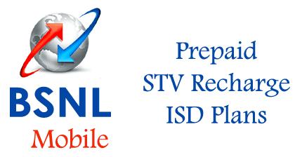 BSNL ISD Plans, Prepaid Recharge ISD Vouchers