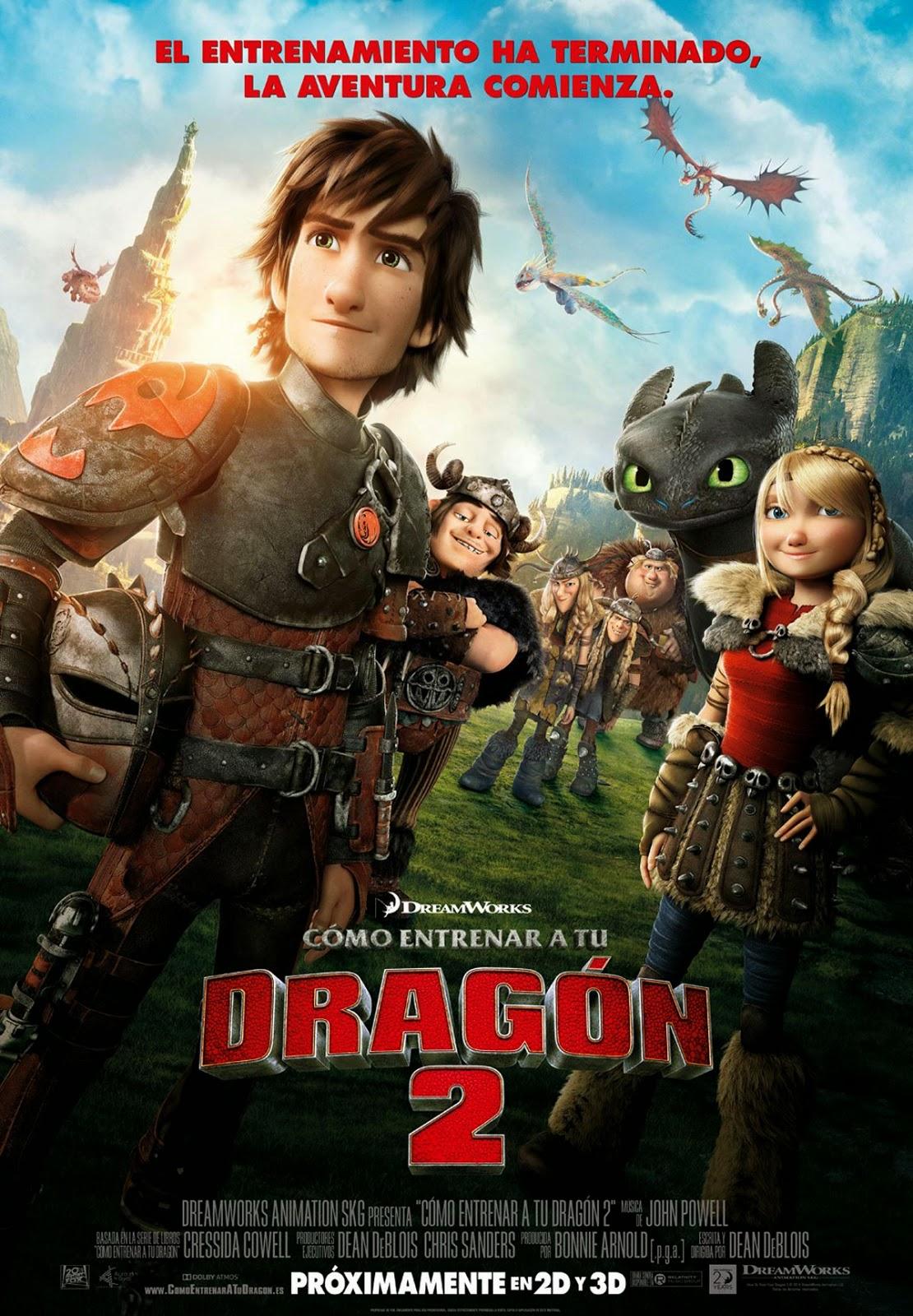 Películas-Fox-nominadas-Globos-Oro-2015-como-entrenar-a-tu-dragón-2