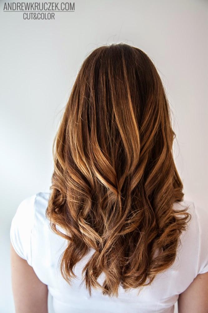 Andrzej Kruczek Cut And Color Honey Highlights On Brown Base Hair