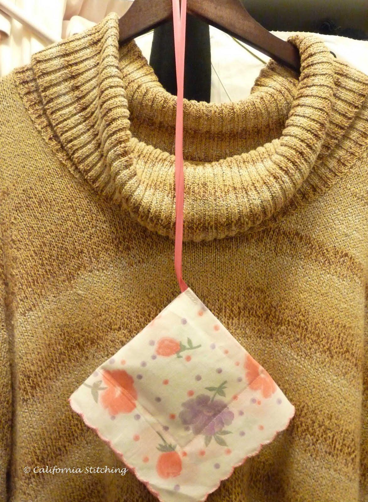 California Stitching: Hanky Lavender Sachets