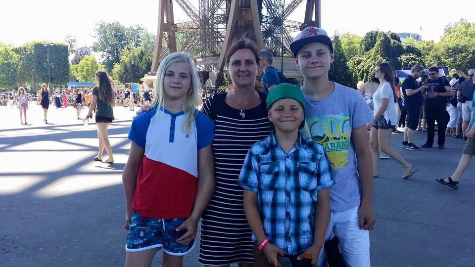 Jag och barnen i Paris