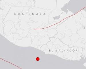 Epicentro sismo Costa de El Salvador, 12 de Septiembre de 2013