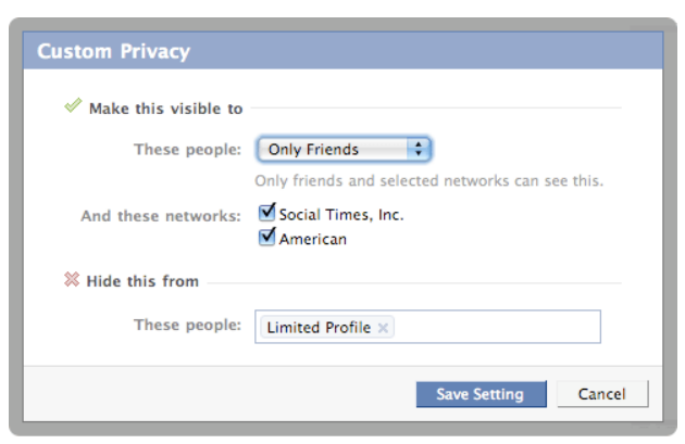 ... Networking Tips: How to Make Your Facebook Contact Information Private