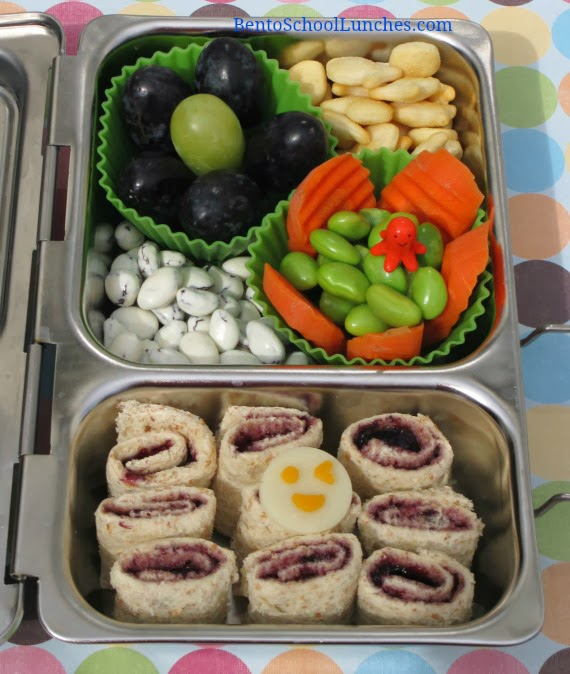 Easy roll ups, bento school lunches