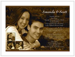 Convite de casamento com a fotografia do casal