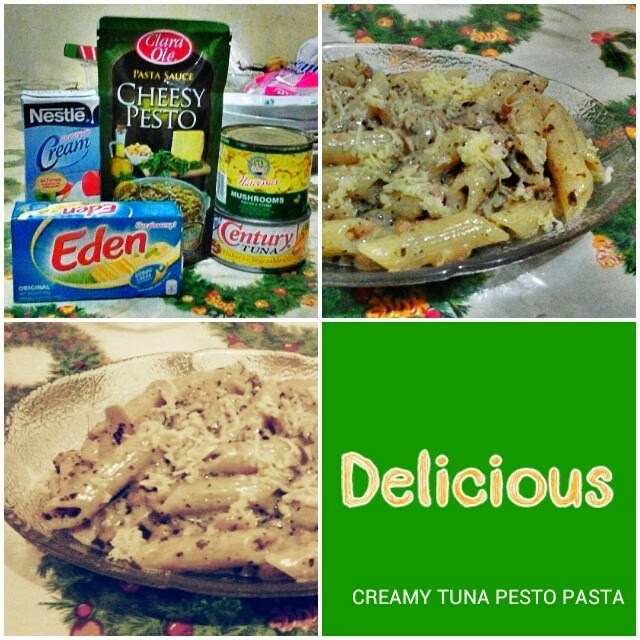 Creamy Tuna Pesto Pasta