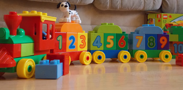 lego duplo bright coloured train set preschool