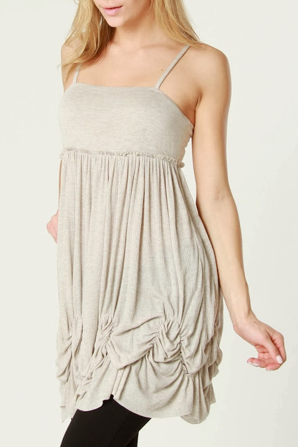 Grey Cami Tunic With Black Leging