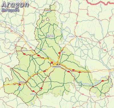 Zaragoza Mapa Ciudad de la Región