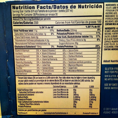 day 13 post double jaw (orthognathic) surgery ensure nutrition facts