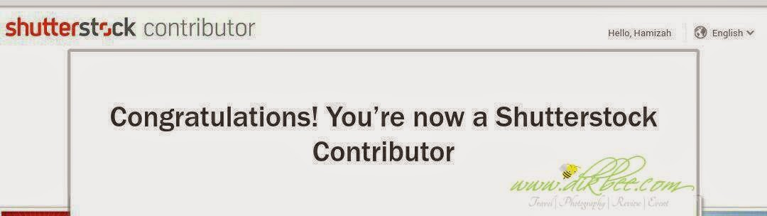 Congratulation ! You're now a Shutterstock Contributor