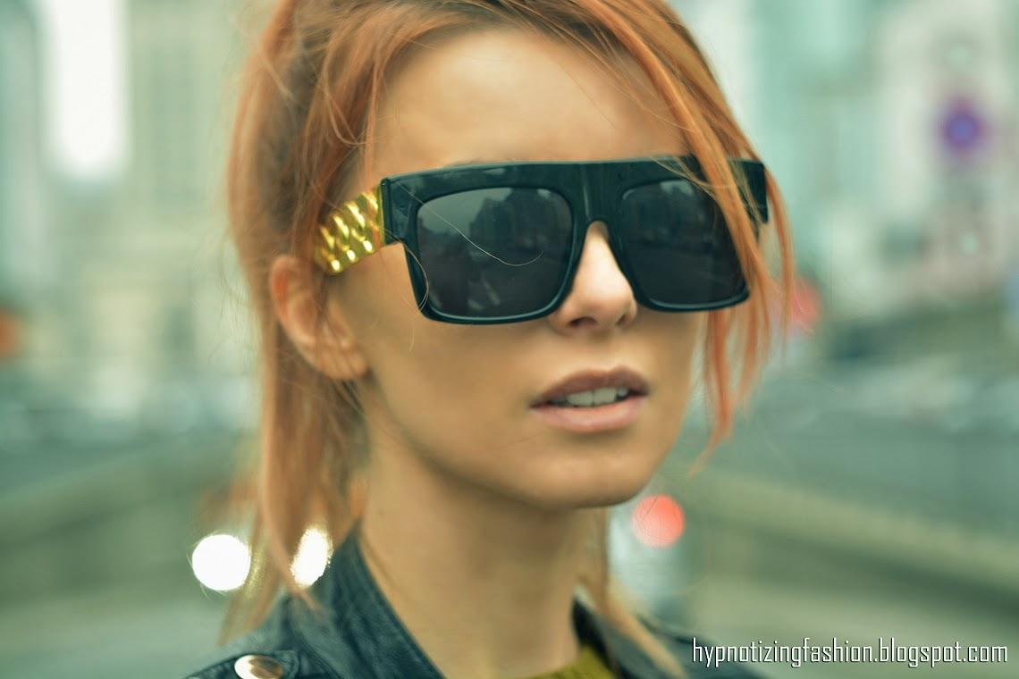 okulary przeciwsłoneczne łańcuch
