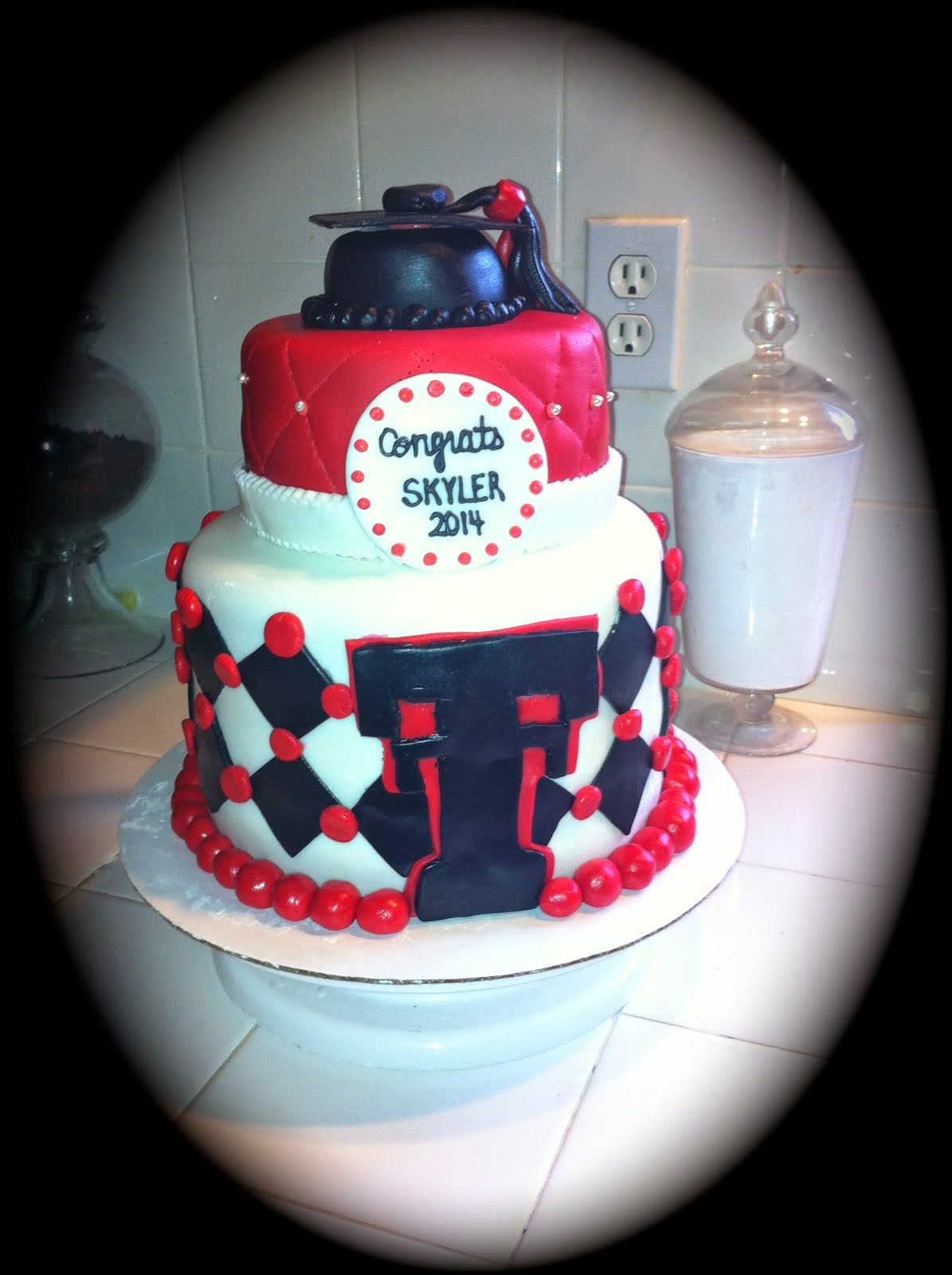 TEXAS TECH GRADUATION CAKE