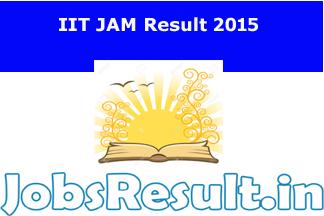 IIT JAM Result 2015