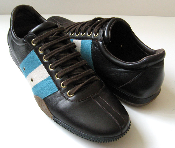 closet bally brown leather oxford athletic shoes
