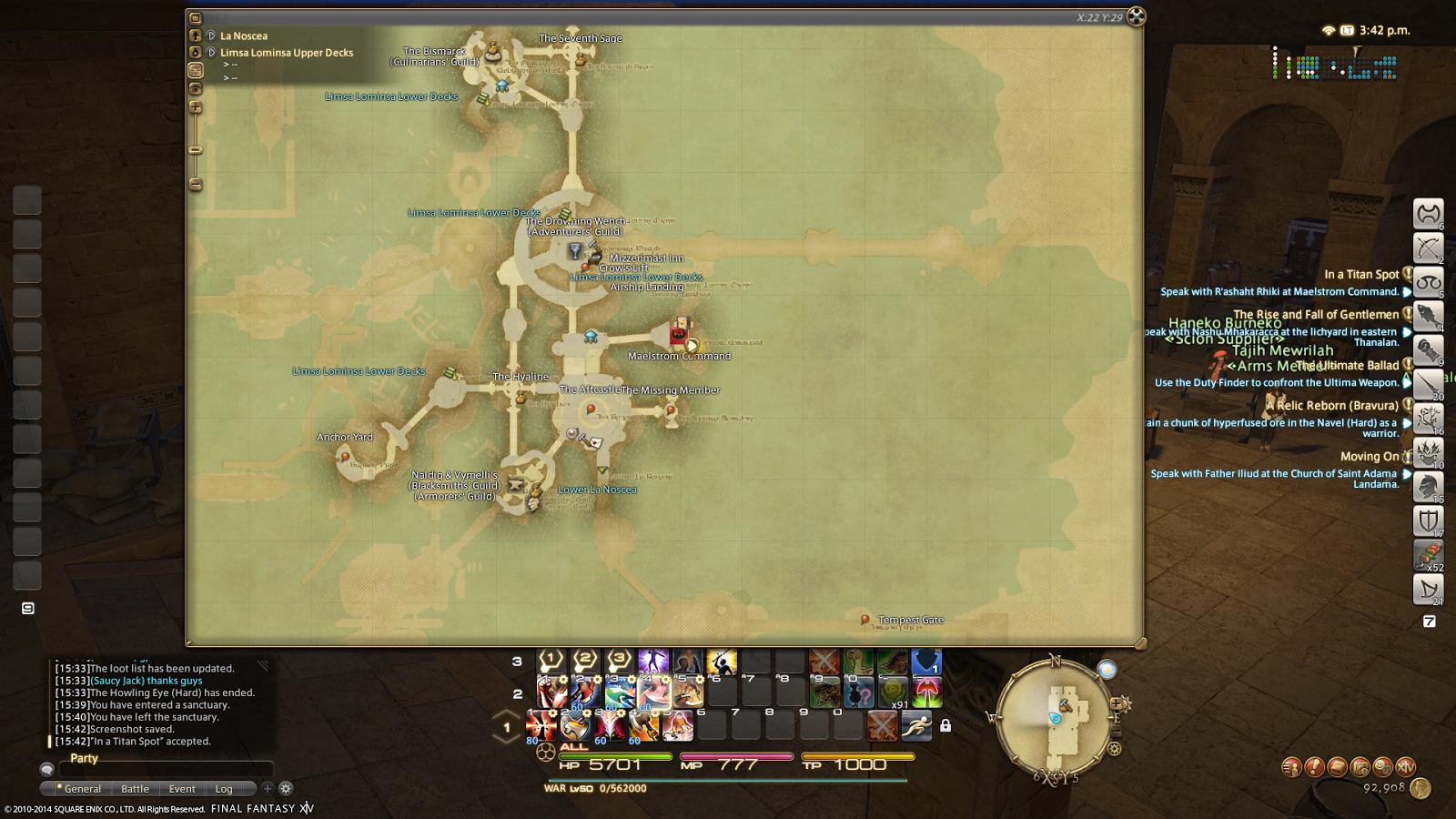 Final Fantasy XIV - A Realm Reborn: In a Titan Spot (The Navel Hard ...