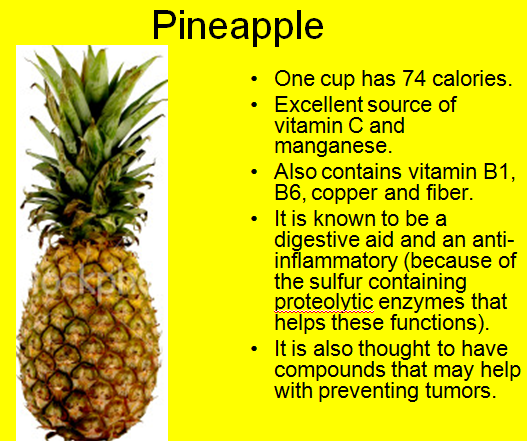 What vitamins and minerals are in pineapple