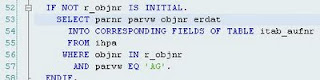 SAP ST05 SQL Trace output SQL statement call in ABAP