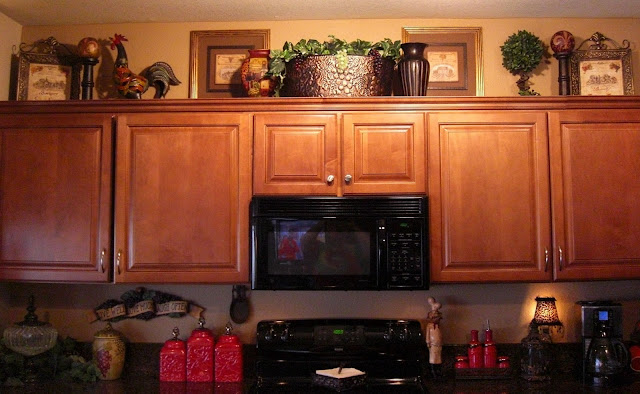 No place like our home kitchen tour for Christmas decorations for kitchen cabinets