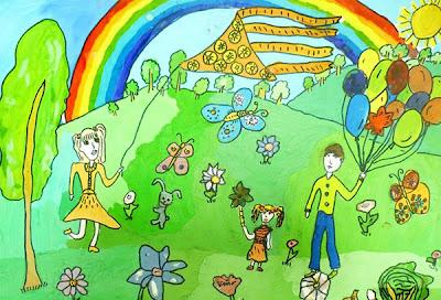 детские рисунки на тему я и новый год