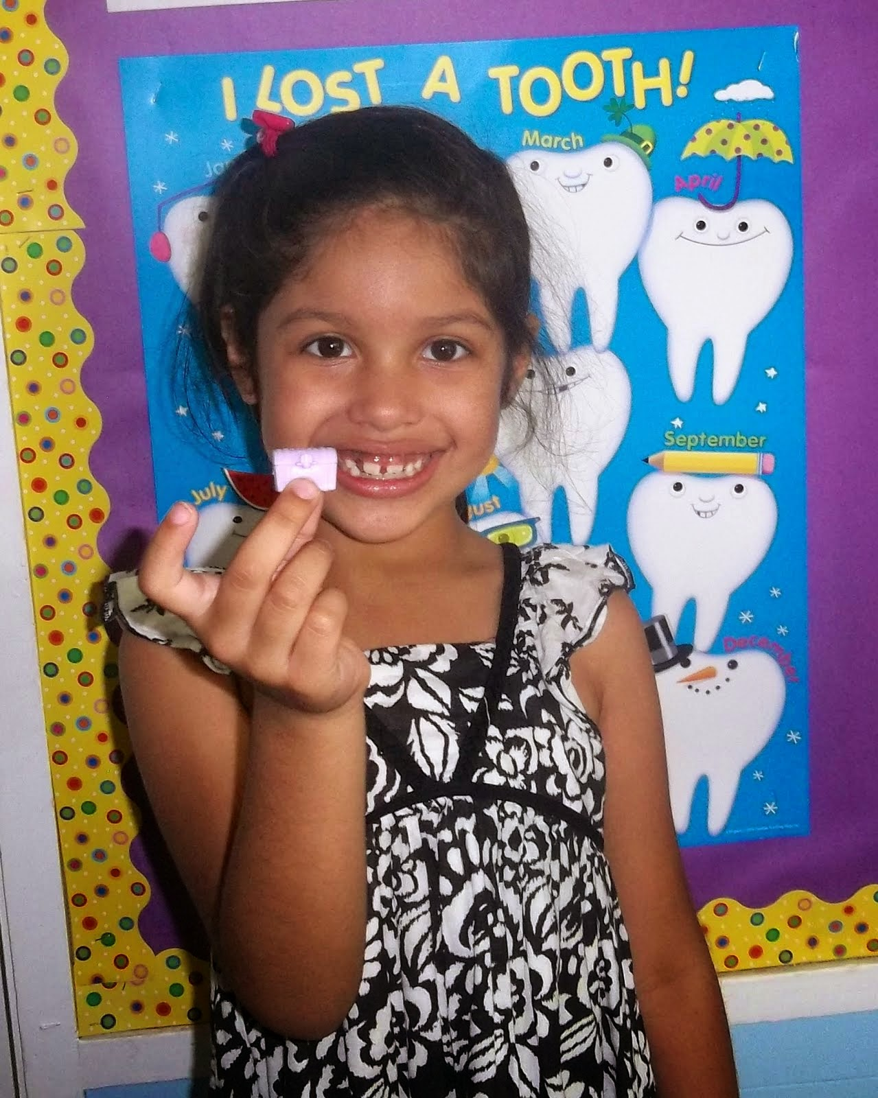 Abigail lost a tooth!