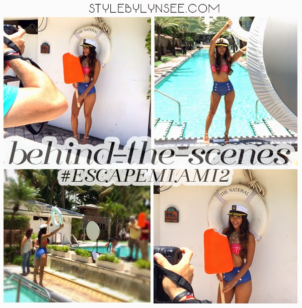 escape miami style lounge, mercedes-benz swim week, mbfw swim, mbfw, mercedes benz fashion week, miami swim week, swim week 2014, the national hotel miami beach, peroni, style by lynsee, miami fashion bloggers, outfit of the day, swimwear, womens swimwear, bikini, sailor bikini, sailor outfit, gold necklace, aldo jewelry, aldo shoes, sara shoes, white strappy heels, white heels, nautical fashion, nautical bikini, nautical jewelry, sailor hat, props, oversized prop, miami fashion blogger, fashion blogger, swim week