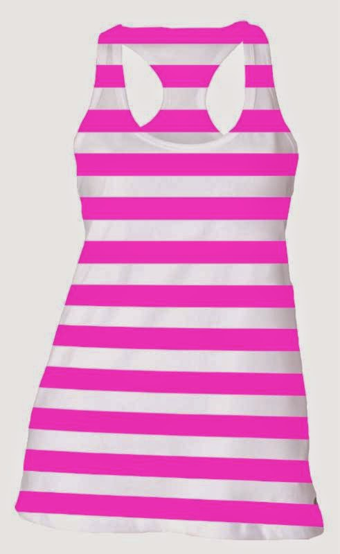 Pink and White Striped top